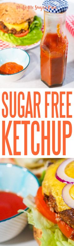 Ketchup is one of sugars favourite hiding places. Most shop bought bottles contain as much as sugar per bottle. A quarter of your ketchup is sugar. Sugar Free Ketchup, Cantaloupe, Tasty, Fruit, How To Make, Kids, Food, Young Children, Boys