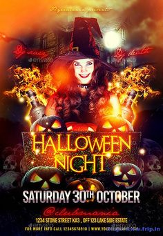 70 Best ‪#‎Halloween‬ Party #Flyers Print Templates 2015  Link  : http://www.frip.in/halloween-horror-night-party-flyers-print-templates/