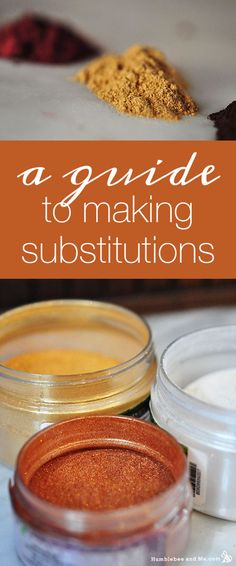 A Guide to Making Substitutions in DIY Recipes