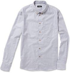 A.P.C. Striped Button-Down Oxford Shirt