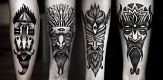 Kamil Czapiga - bearded man tattoos beards men beard black white tattoo idea ideas designs design flash awesome intricate work