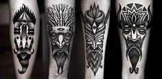 Kamil Czapiga - bearded man tattoos beards men beard black white tattoo idea ideas designs design flash awesome intricate work
