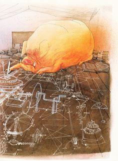 George Orwell's Animal Farm Illustrated by Ralph Steadman | Brain Pickings
