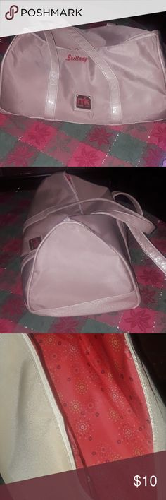 """Mary Kay 50th Anniversary Seminar Duffle Bag Purchase in Dallas Has """"Brittany"""" embroidered in Mary Kay Bags"""