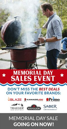 ⭐Save BIG on BBQ Grills, Pizza Ovens, Outdoor Kitchen Storage, Smokers & More! Memorial Day Sale Is Going On Now! 🇺🇲 . #nationalbbqmonth #bbq #grilling #sale #memorialday Grill Sale, Wood Pellet Grills, Memorial Day Sales, Kamado Joe, Pizza Ovens, Smokers, Kitchen Storage, Barbecue, Grilling