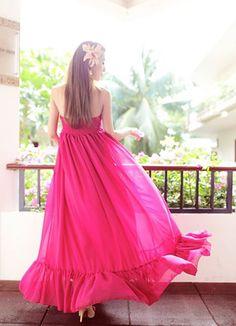 pink and chiffon