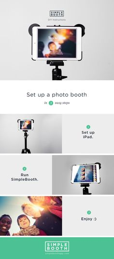 Set up a photo booth in 3 easy steps with SimpleBooth Event Edition