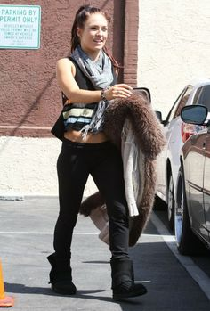 """Sharna Burgess - """"Dancing With The Stars"""" Celebs Go To Rehearsals"""