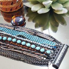 Na vitrine.... PULSEIRA IMÃ INDIAN TURQUESA  www.gracealmeida.com