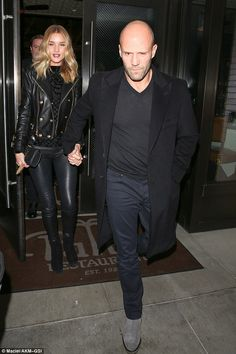 Date night: Rosie Huntington-Whiteley and Jason Statham enjoyed a dinner for two at Palm R...