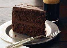 Chocolate Stout Layer Cake with Chocolate Frosting. B Day cake?  Bon Appetit