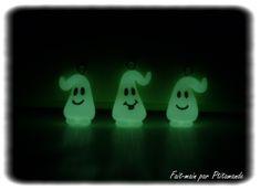 Fantôme phosphorescents réalisés avec de la WePAM phosphorescente.