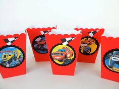 Blaze and the Monster Machines Inspired Party by FluidYard on Etsy fill with food & use as centerpiece?