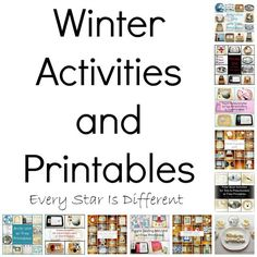 Every Star Is Different: Winter Themed Activities & Printables (Learn & Play Link Up)