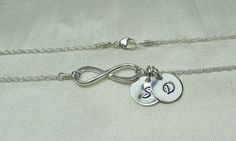 Personalized Infinity Necklace  Two Initial by MesmericJewelry