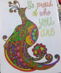 Creative Coloring Inspirations: Art Activity Pages to Relax and Enjoy! (Design Originals) 30 Motivating & Creative Art Activities on High-Quality, Extra-Thick Perforated Pages that Won't Bleed Through Creation Coloring Pages, Coloring Book Art, Mandala Coloring, Colouring Pages, Adult Coloring, Peacock Art, Hippie Love, Girly Quotes, Art Activities
