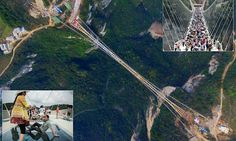 World's highest glass bridge closes 13 DAYS after grand opening #DailyMail