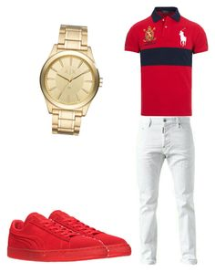 """Untitled #10"" by sosababy1201 ❤ liked on Polyvore featuring Puma, Armani Exchange, Ralph Lauren, men's fashion and menswear"