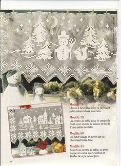 filet crochet View album on Filet Crochet Charts, Crochet Borders, Crochet Cross, Crochet Home, Thread Crochet, Christmas Crochet Patterns, Christmas Knitting, Christmas Cross, Crochet Curtains