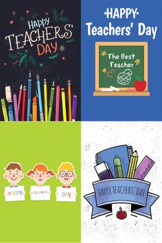 A sample of four designs from our Teacher's Day collection