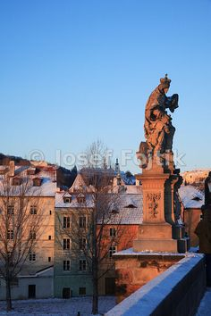 Kampa Island from the Charles Bridge and statue of Saint Ludmilla on the right, Prague, Czech Republic - Josef Fojtik Photography Charles Bridge, Prague Czech, Czech Republic, Statue Of Liberty, Saints, Louvre, Island, Building, Pictures