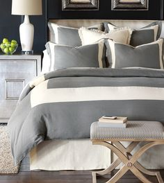 Breeze Mitered Linen Collection from Eastern Accents