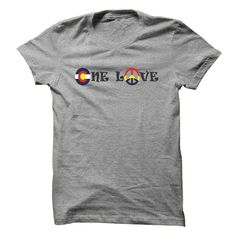 One Love Colorado T-Shirts, Hoodies. ADD TO CART ==► https://www.sunfrog.com/LifeStyle/One-Love-Colorado.html?id=41382