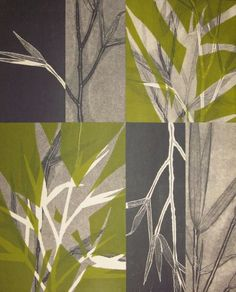 Monotype collage by Mary Margaret Briggs Nature Prints, Art Prints, Gelli Plate Printing, Gelli Arts, Motif Floral, Art Graphique, Mondrian, Botanical Art, Art Techniques