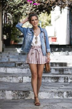 38 Best Casual Shorts Spring Outfit Combinations is part of Summer outfits - Cute Summer Outfits, Short Outfits, Outfits For Teens, Trendy Outfits, Fashion Outfits, Summer Brunch Outfit, Fashion Clothes, Date Night Outfit Summer, Ladies Fashion