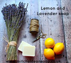 Lemon and Lavender handmade soap, full of fragrance, made by hand in small batches. Only natural ingredients used in our soap bars