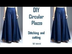 DIY Cold Shoulder Top With Ruffle Sleeves Cutting and Stitching Tutorial - YouTu. Dress Neck Designs, Back Neck Designs, Blouse Designs, Girls Dresses Sewing, Dress Sewing Patterns, Plazzo Pants Pattern, Pants Tutorial, Model Rok, Sewing Pants