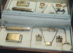 Art Deco Men Jewelry Set 12Kt Gold Filled by TreasuresFromUs