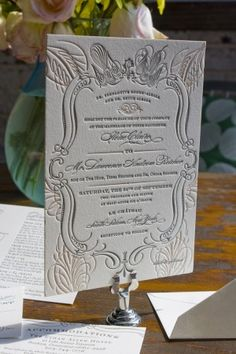 Ilene + Lawrence's Chateau-Inspired Formal Wedding Invitations