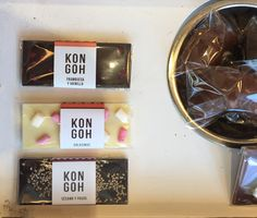 KON GOH modern flavoured chocolate