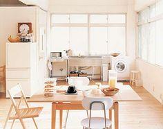 A functional little loft kitchen.