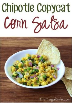 Chipotle Corn Salsa Recipe Copycat! ~ at TheFrugalGirls.com ~ if you LOVE Chipotle, you'll really love this easy Copycat Corn Salsa to have on your burritos and bowls at home! SO simple and delicious!! #recipes #thefrugalgirls