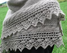 """A fun intermediate knitting pattern, this Shawl Crocus is a great DIY accessory! It can be hard to find a shawl knitting pattern that is stylish and modern but this project does the trick! A great DIY gift idea for all women, this cozy shawl is the missing accessory in anyone's wardrobe. If you are an experienced knitter who wants a unique project to tackle, this project is for you.<br /> <br /> <strong>From the Blogger: </strong>""""This sideway shawl is..."""
