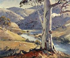Paintings - Robert John Lovett - Page 5 - Australian Art Auction Records Landscape Drawings, Landscape Art, Landscape Paintings, Australian Painting, Australian Artists, Watercolor Trees, Watercolor Landscape, John Lovett, Aboriginal Art