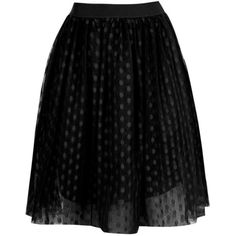 Boohoo Boutique Indira Polka Dot Tulle Full Midi Skirt ($40) ❤ liked on Polyvore featuring skirts, knee length pleated skirt, polka dot skirts, tulle skirts, midi skirt and circle skirts