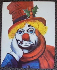 RED SKELTON Colorful Clown  Art Print!