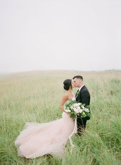 Stunning coastal Micro-Wedding Inspiration with beautiful florals | Oregon Wedding Inspiration Pink Wedding Gowns, Blush Pink Weddings, Wedding Shoot, Wedding Colors, Wedding Blog, Wedding Reception, Wedding Flowers, Wedding Ideas, Coastal Wedding Inspiration