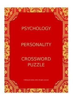 This resource includes a number of concepts in Personality Psychology presented in the form of crossword exercise. It is accompanied with the answer key! Ready to go!!Check out more quality, ready-to-use resources:More from Resources GaloreFollow me on:PinterestCLICK on the green FOLLOW ME button and be the first to know when new resources become available!Thank you for visiting my store!Prathiba*****************************************************************************How to get TPT…