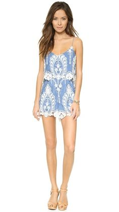 Dolce Vita Gardner Romper. Gorgeous! Light and breezy for a summer at the shore.