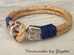 Hey, I found this really awesome Etsy listing at https://www.etsy.com/listing/477480092/mens-anchor-braceletrope-bracelet