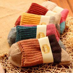 5 Pairs High quality Winter Warm Wool Women Socks - Shopamazon Nation