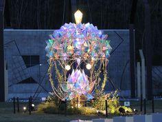 宮沢賢治童話村の森 illuminate Opt Art, Light Girls, Have A Nice Trip, Deep Art, Fantasy City, Fairytale Castle, Scenic Design, Exhibition Space, Tree Lighting