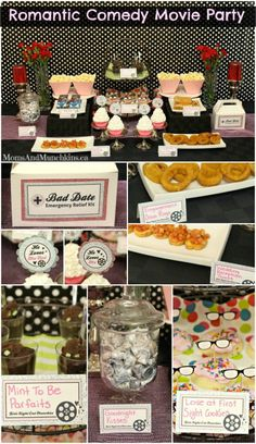 Romantic Comedy Movie Party - a fun birthday theme for teens or a fun ladies night in idea. Includes printables, clever ideas for party food, favors and more! This would be a great singles Valentine's Day party idea too! Ladies Night, Girls Night, Cool Birthday Cakes, Birthday Fun, Birthday Parties, Movie Party, Party Time, Romantic Comedy Movies, Magazines For Kids