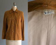 Vintage 1940's Vascelli Suede Imported Leather Button Up