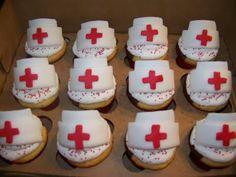 fondant nurse hat cupcake topper