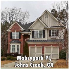 Mabry Park Pl - Johns Creek, GA - 11492 | Single-Family Home | 4 Bed | 4 Bath | 2,643 sqft | Built 2007| Listing price $389,900 | Qualify and Own this House w/  $23,394.00  towards your Closing Cost w/ our Assist Program, $16,647/down  and  $1962/month | call/text  (973) 750-8236  | #GA @ http://on.fb.me/1MdyEhR  | Immaculate home with master on the main level. Chef's kitchen with pecan cabinets. Large center island with breakfast area